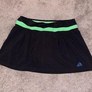 Adidas small tennis skirt black women's golf skort